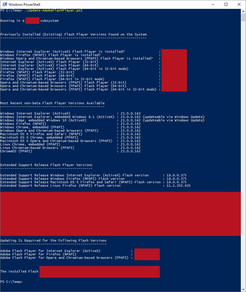 GitHub - auberginehill/update-adobe-flash-player: Updates
