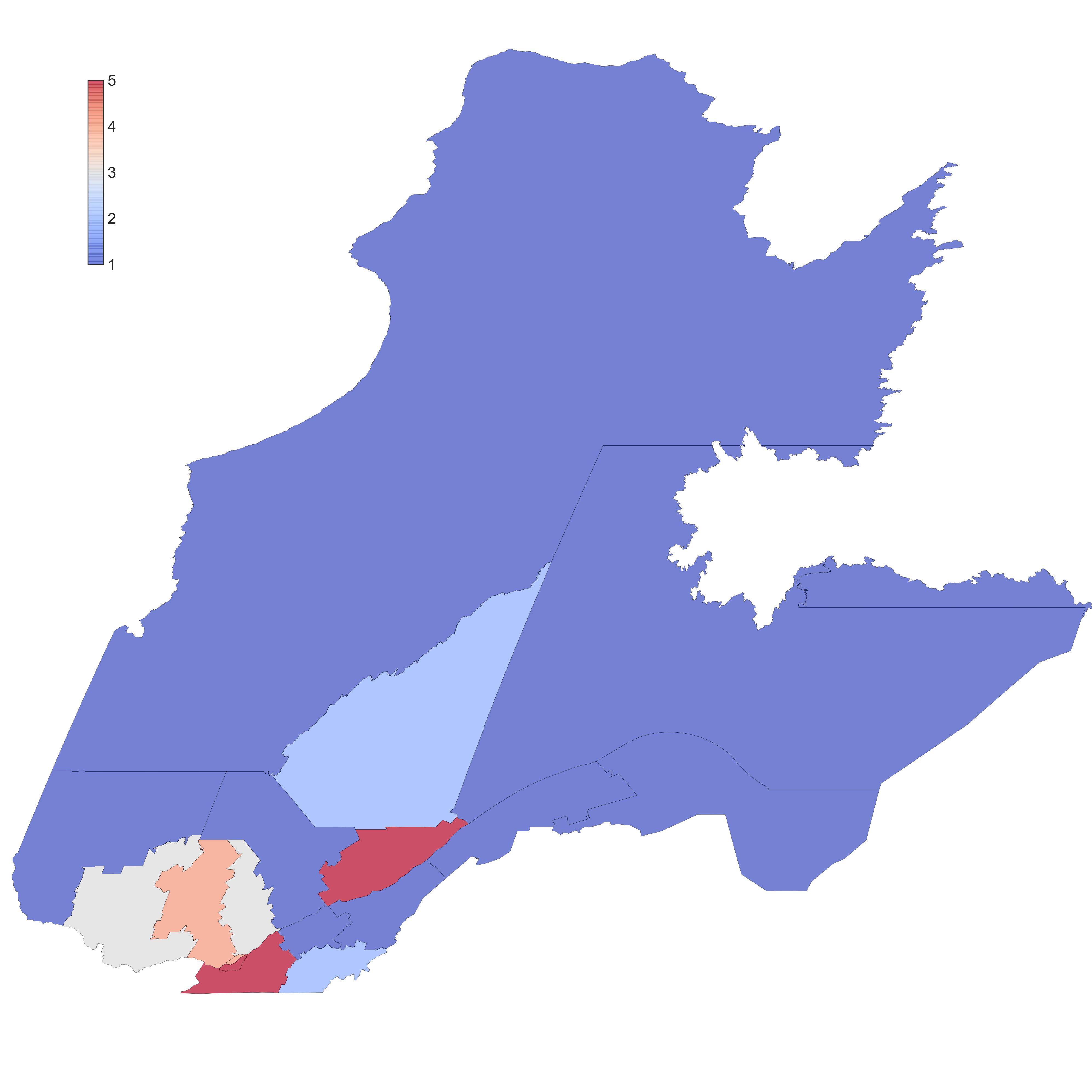 Répartition géographique des TIC au Québec
