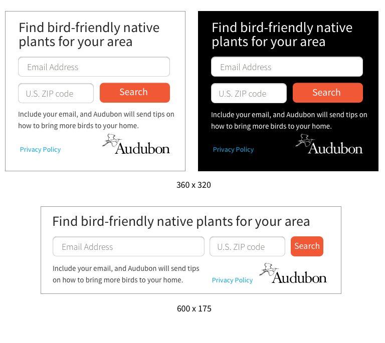 Native Plant embed examples
