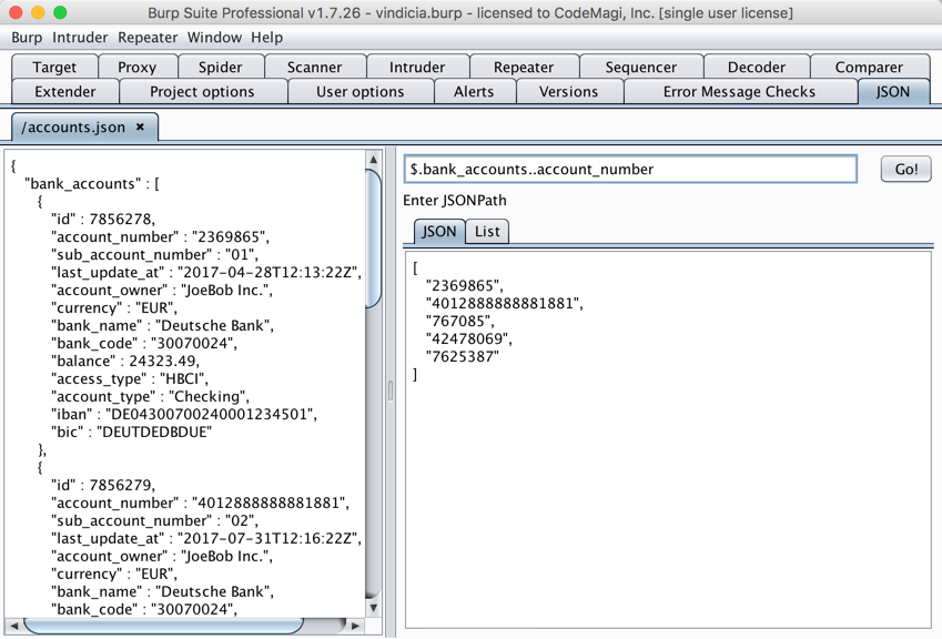 Query with JSONPath