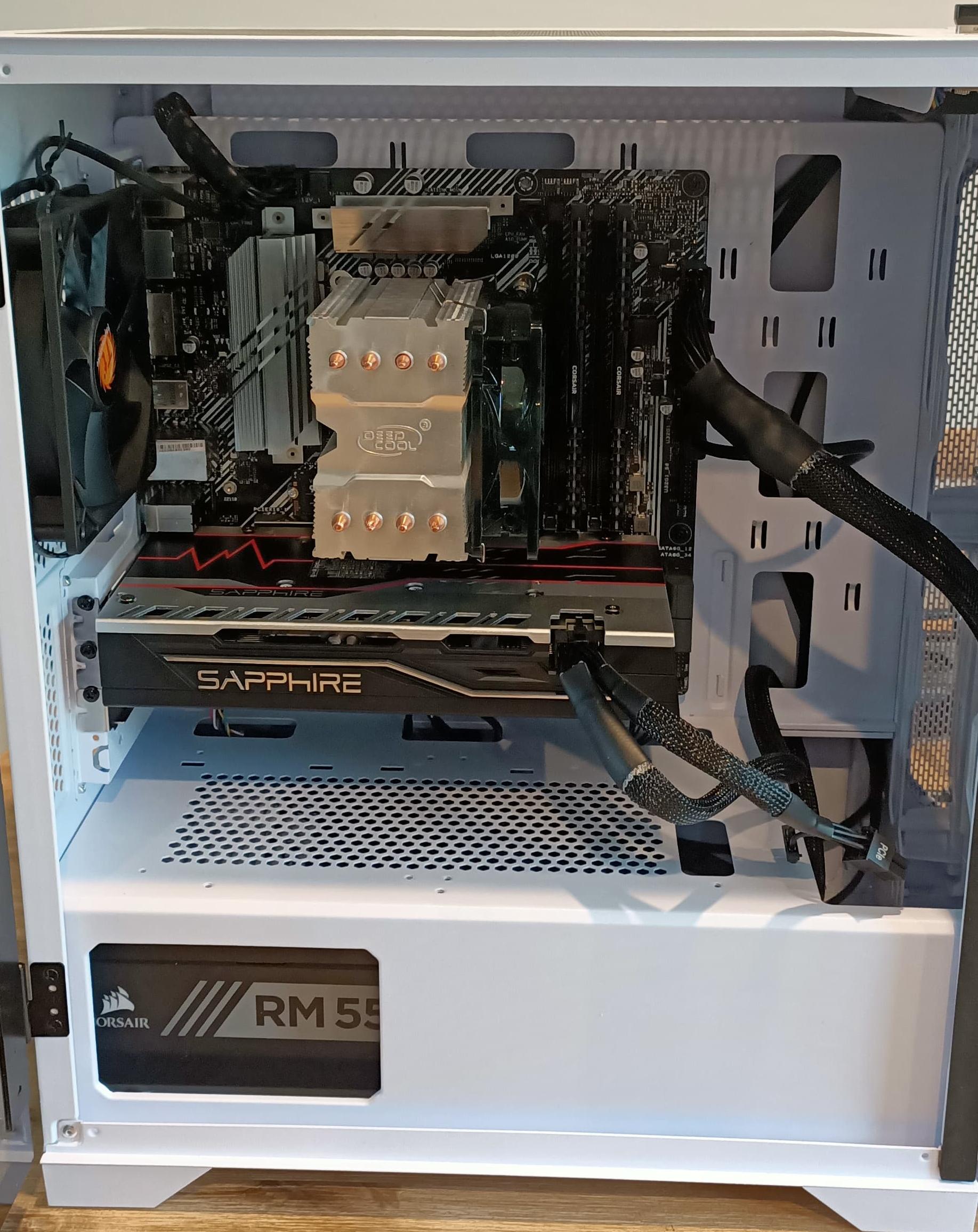 ASUS Z490M-PLUS 10600K RX 580