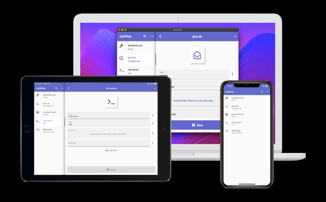 Mac OS, iOS and Android Screenshot