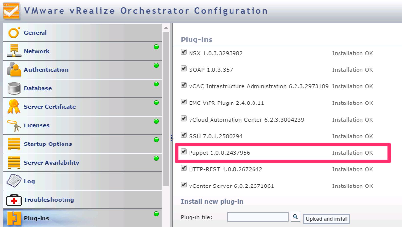VRO Configuration