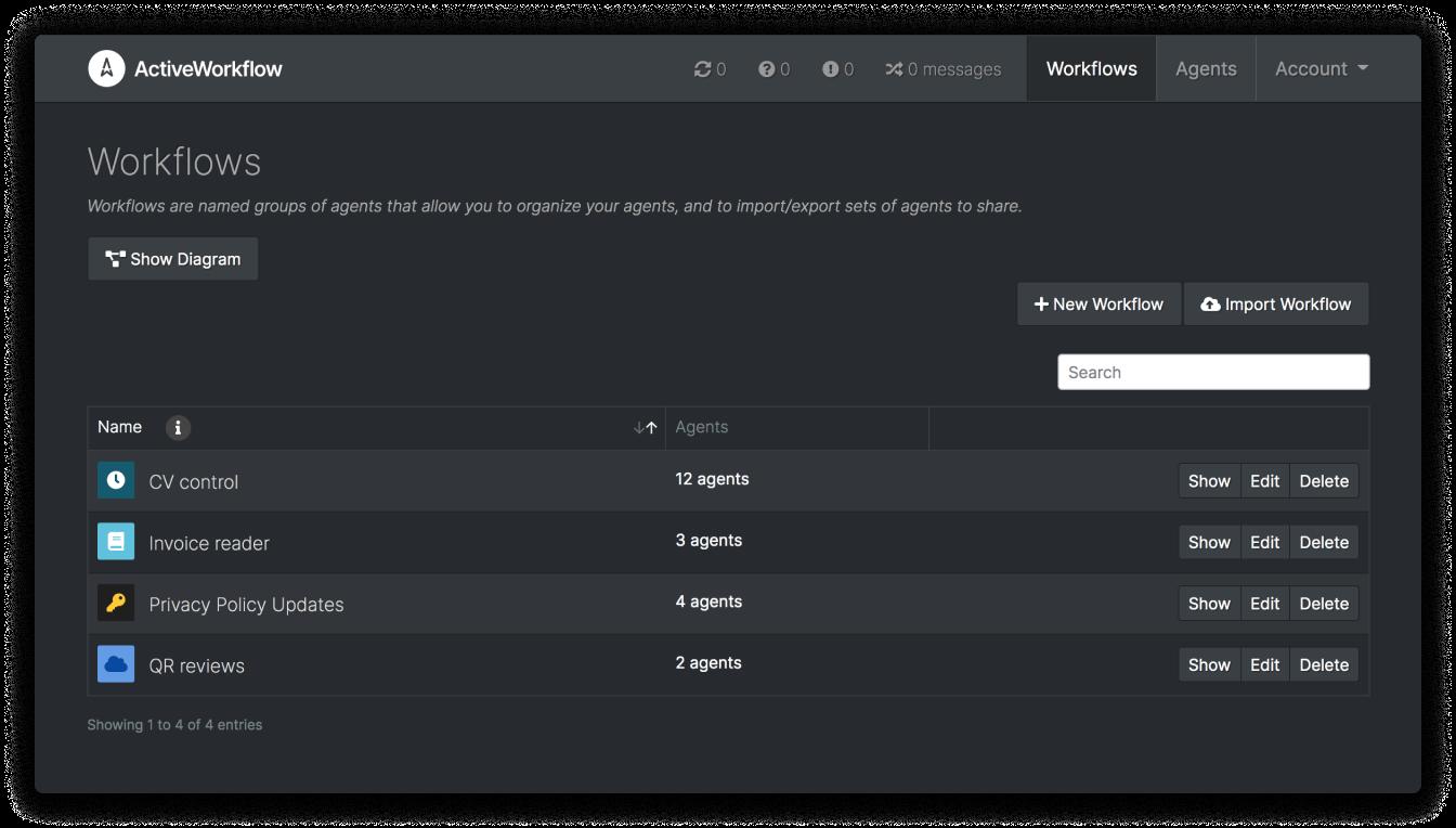 Screenshot of ActiveWorkflow