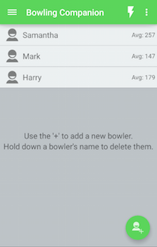 Version 1.0 - Select a bowler