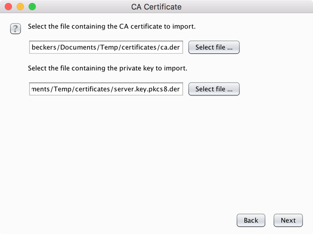 Import the cert into BurpSuite BurpSuite