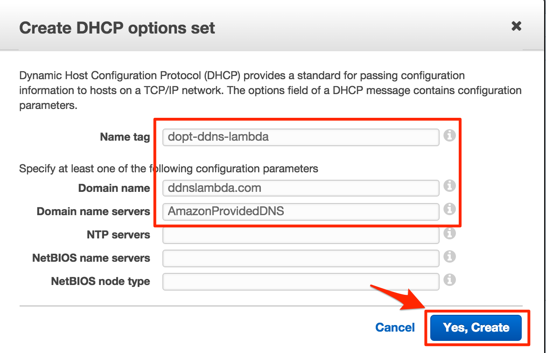 DHCP Option Set