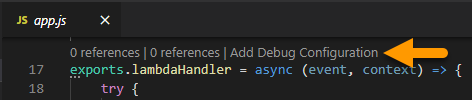 Add Debug Configuration Direct