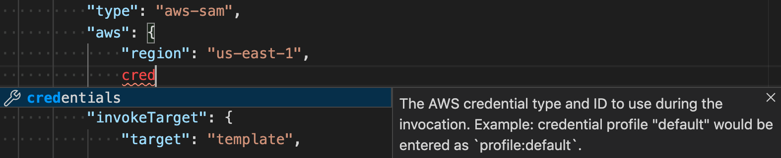 Debug Configuration inline documentation