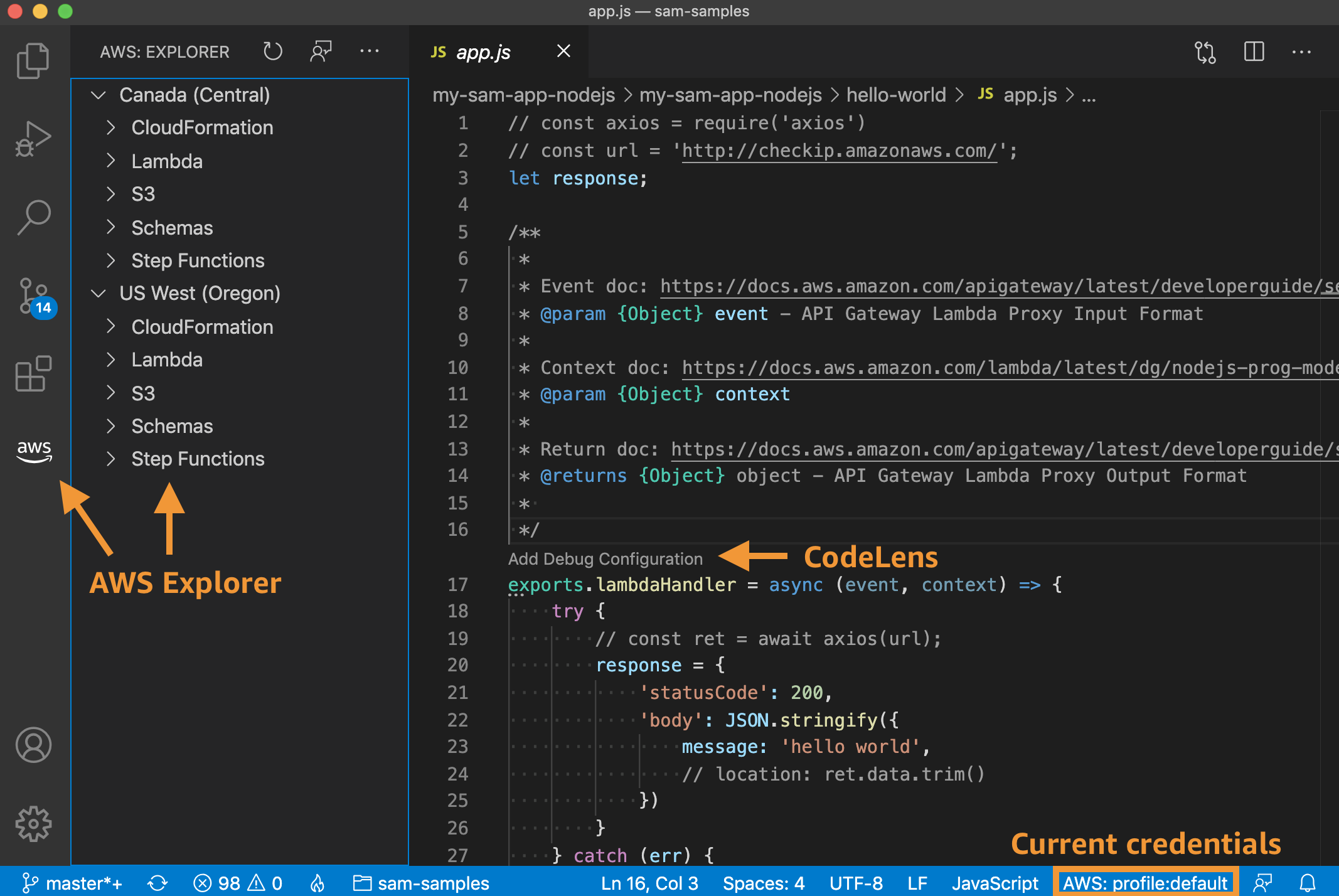 Overview, AWS Explorer