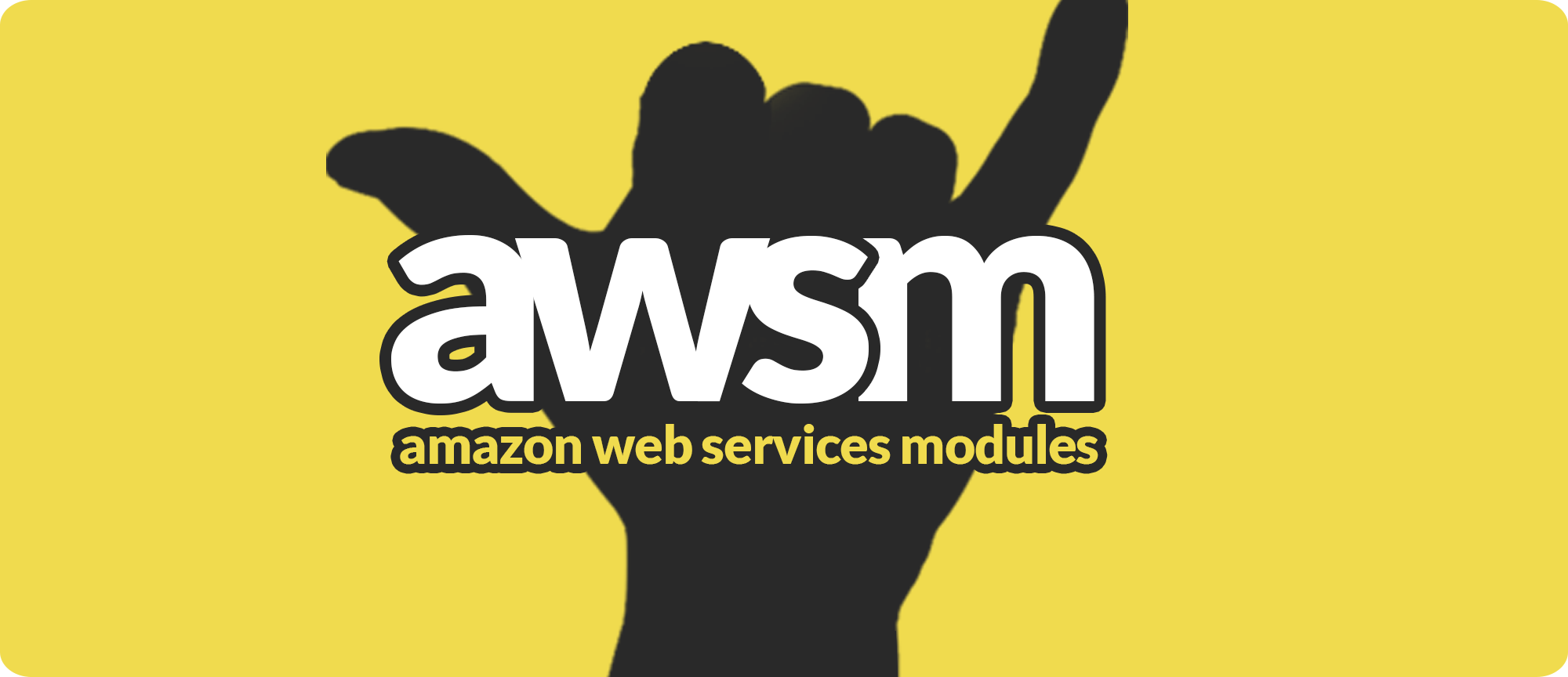 AWSM logo aws modules lambda api gateway JAWS
