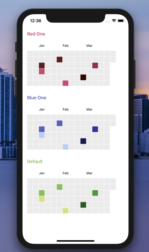 React Native Calendar Heatmap