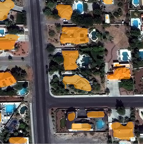 SpaceNet Vegas Buildings in QGIS