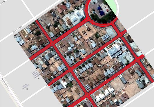 Spacenet Vegas Roads in QGIS