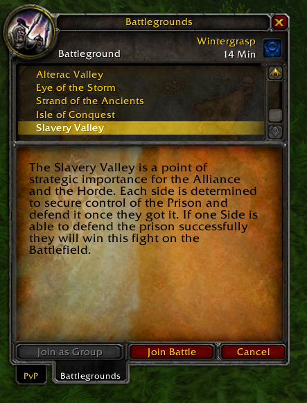 Slavery Valley AzerothCore custom BG module