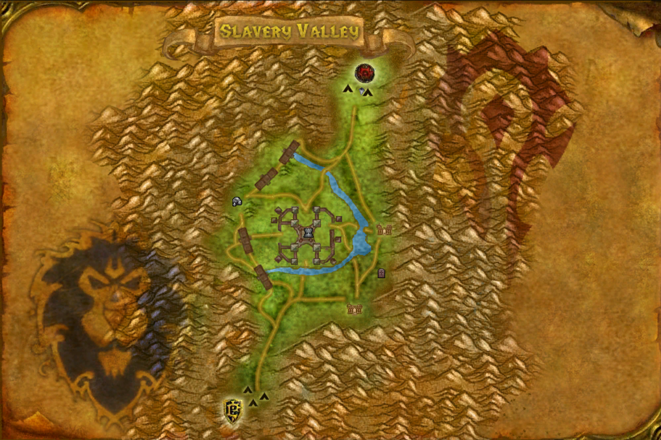Slavery Valley AzerothCore custom BG module - World Map