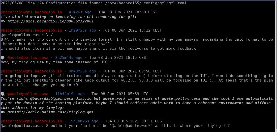 Gtl CLI screenshot
