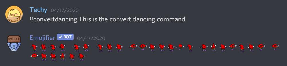 Convert dancing command
