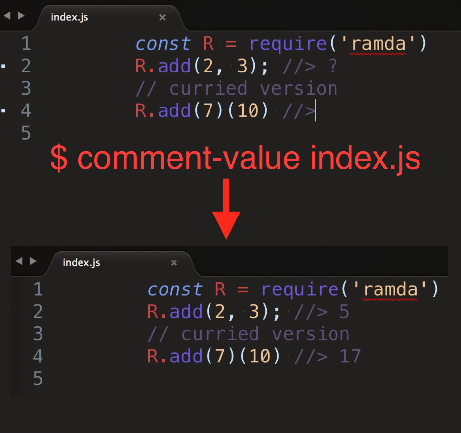 comment-value in action