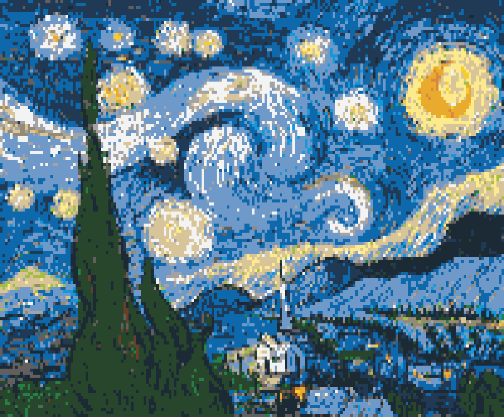Starry Night lego