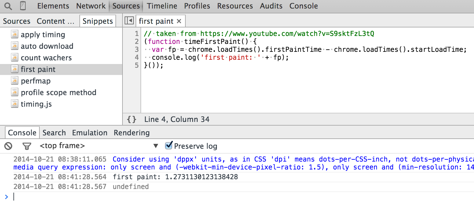 Chrome DevTools Code Snippets | Better world by better software