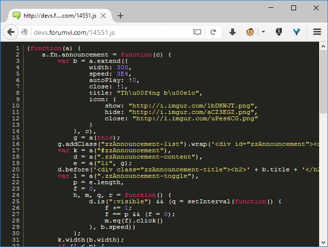 Javascript beautify