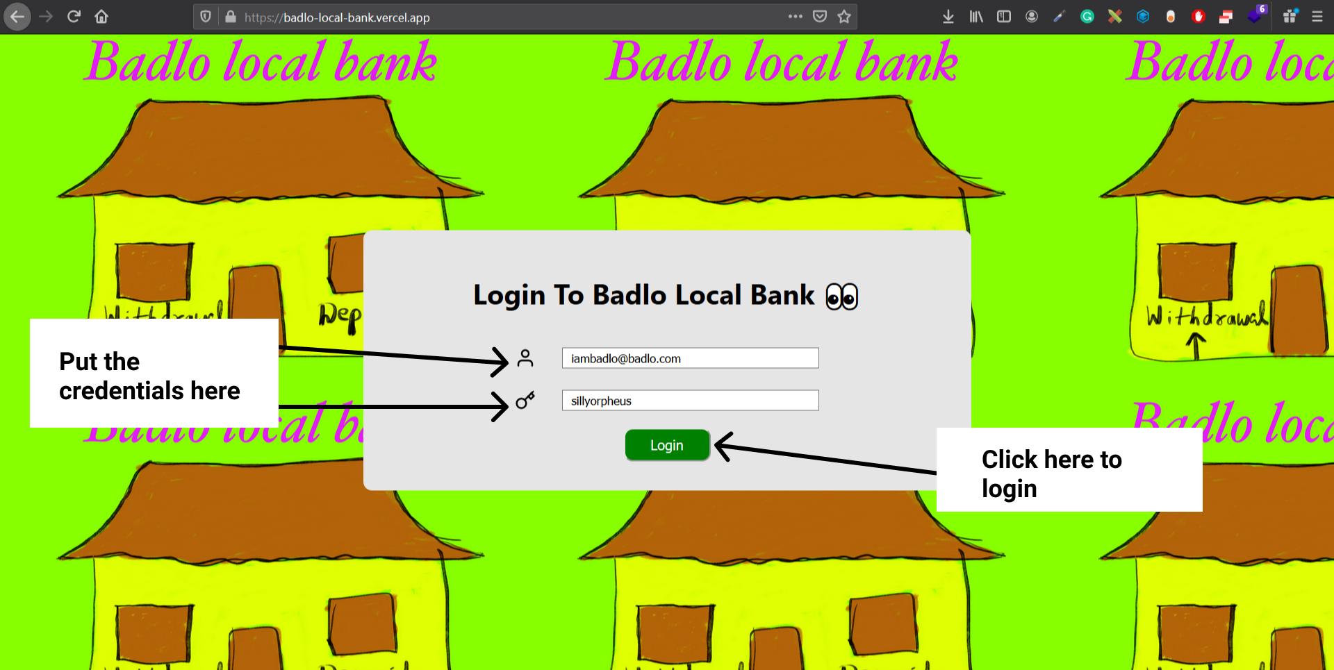 Website Credentials Image