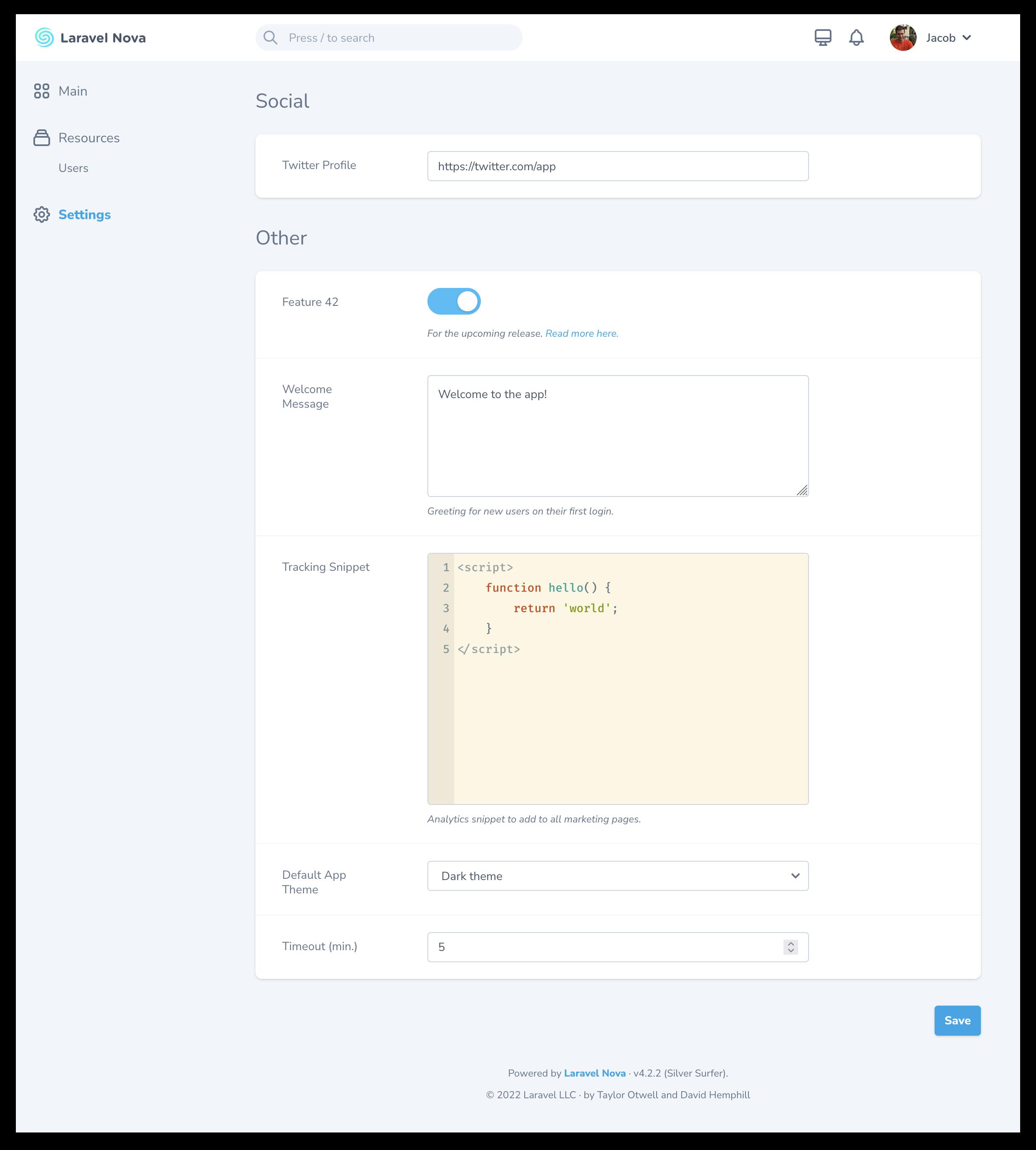 Settings Tool screenshot