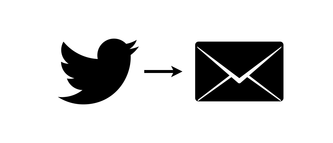 Twitter export to email