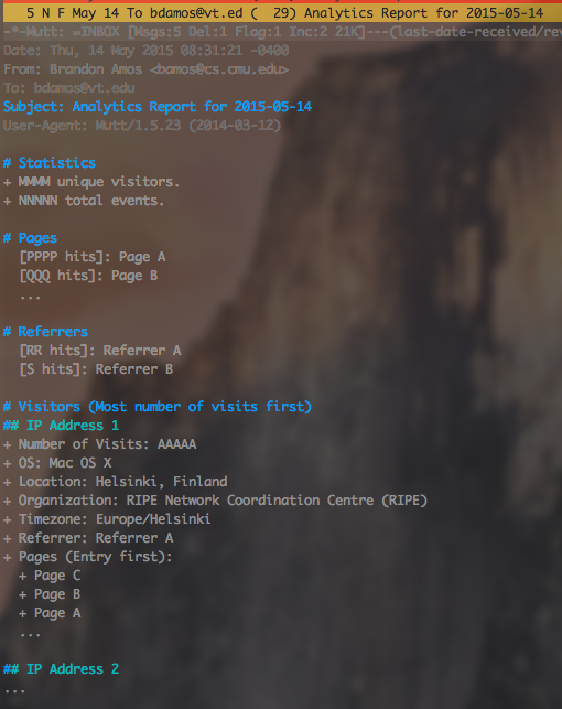 Google analytics report email scheduler for mac