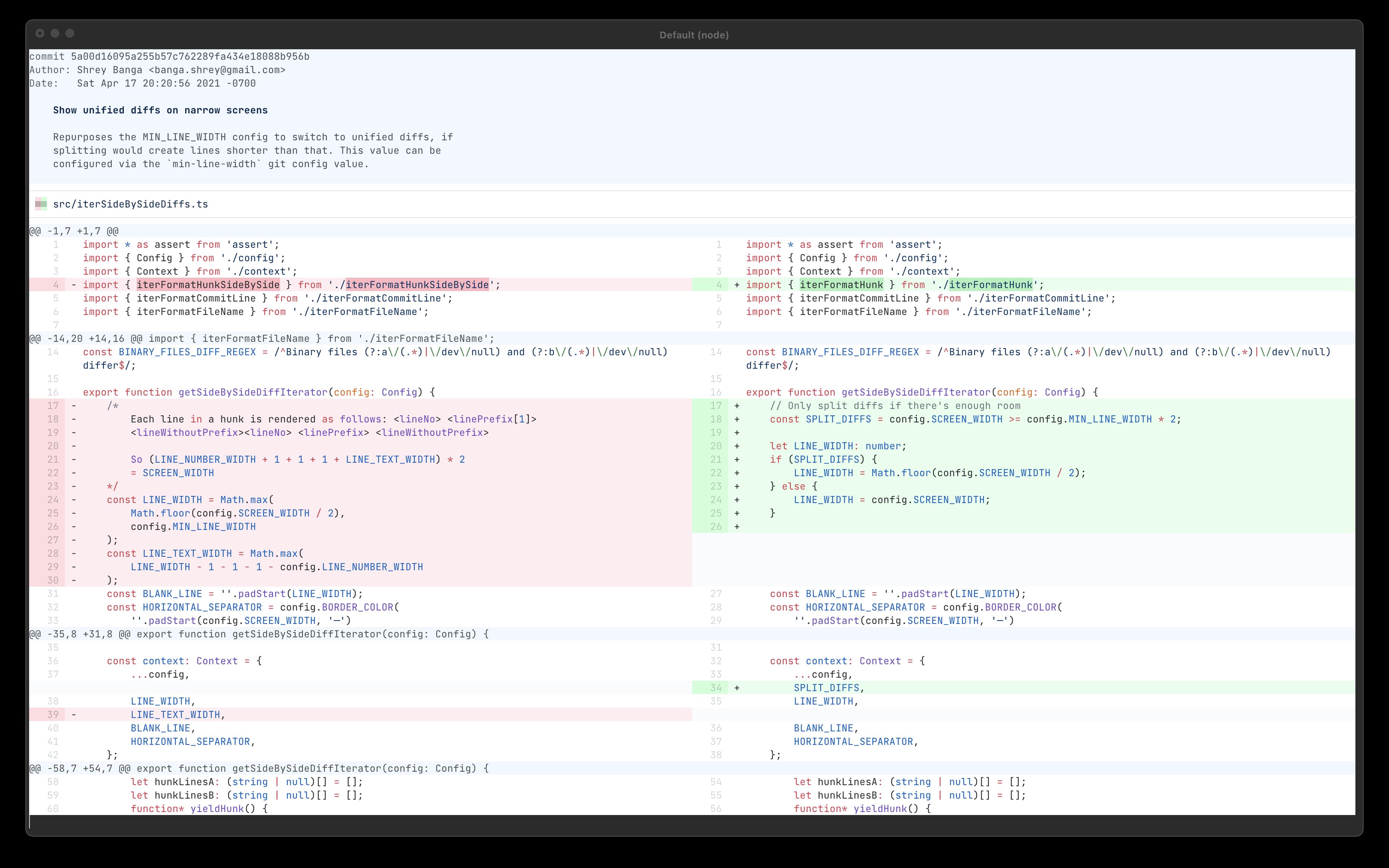 Screenshot of github-light theme
