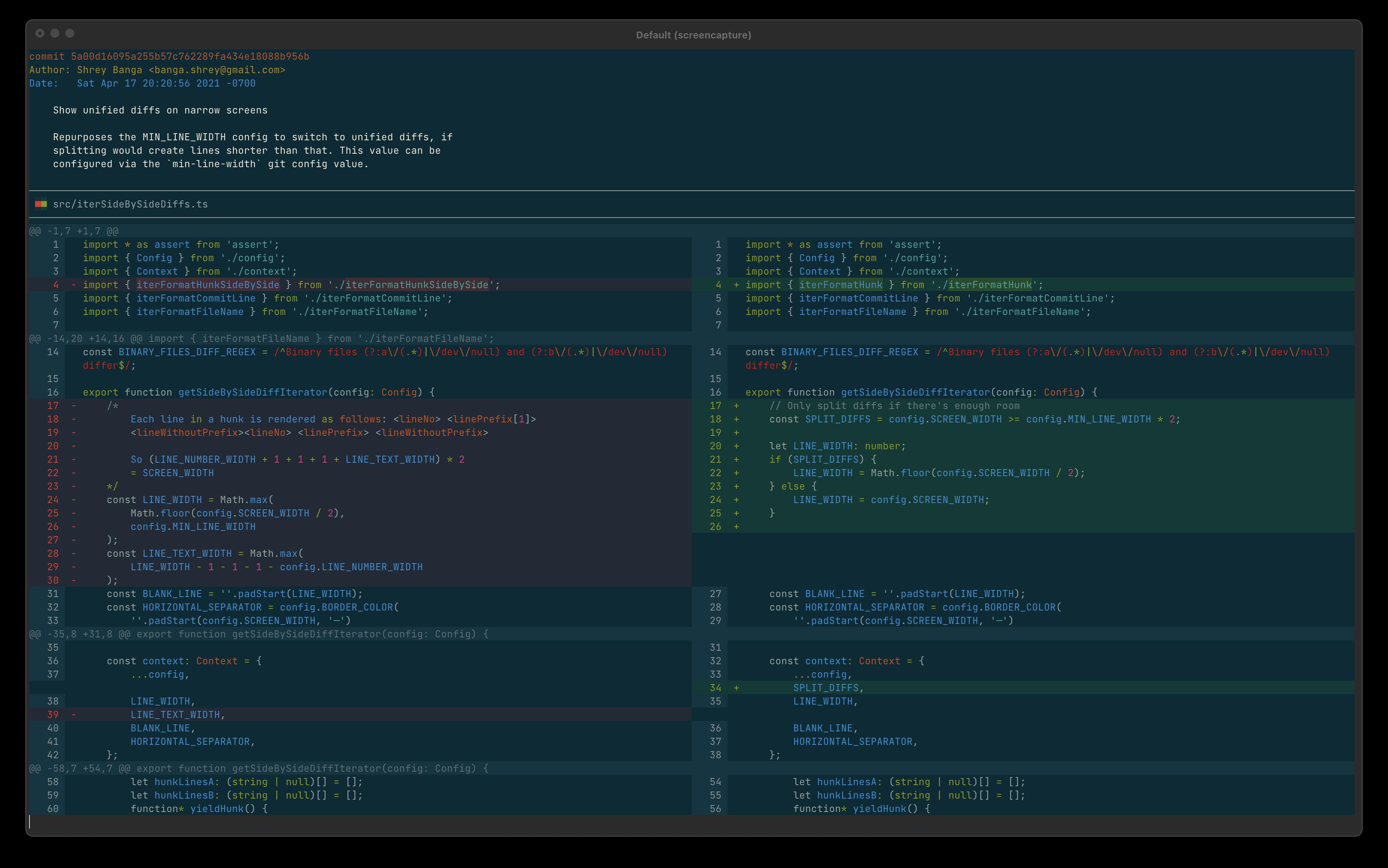 Screenshot of Solarized Dark theme