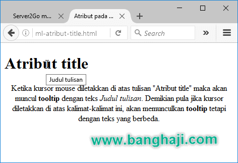 Belajar HTML (03): Core, International and General Attributes