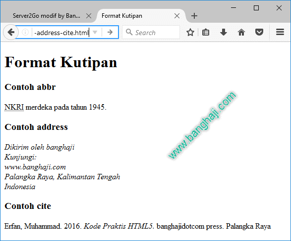 Tampilan file 09-html-format-abbr-address-cite.html