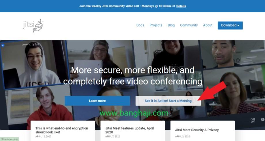 Jitsi Website