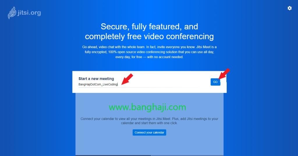 Jitsi membuat link untuk meeting online