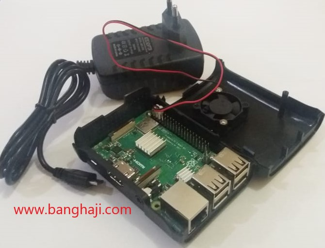 Raspberry Pi bongkar dengan adaptor