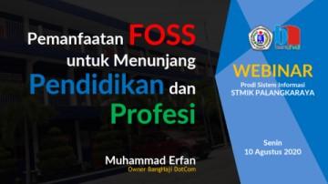 Webinar Pemanfaatan Aplikasi FOSS untuk Menunjang Pendidikan dan Profesi