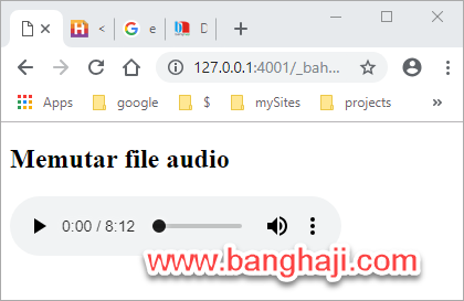 Audio Player Chrome