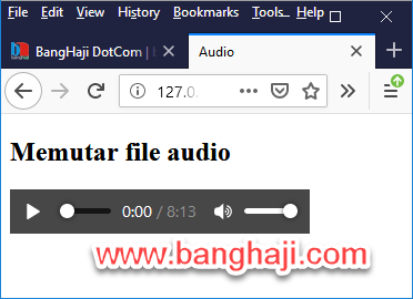 Audio Player Firefox