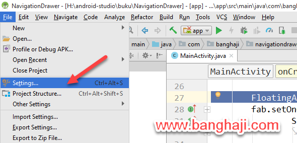 File Settings Android Studio