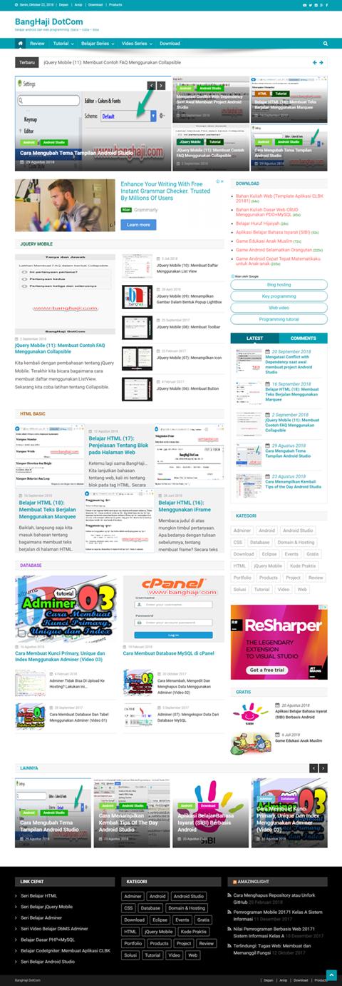Homepage BangHaji DotCom