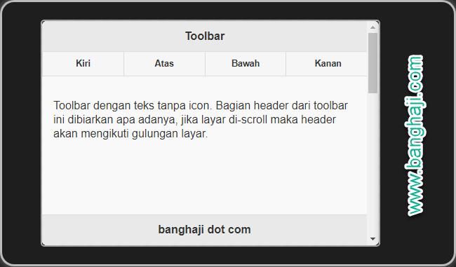jQuery Mobile (08): Membuat Toolbar