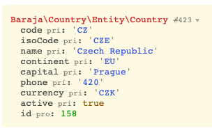 Country entity