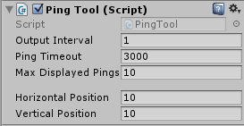 PingTool component