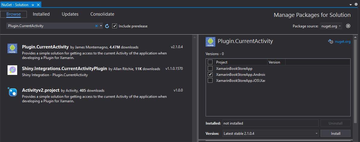Plugin.CurrentActivity