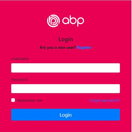 Blazor Up and Running with customized login page