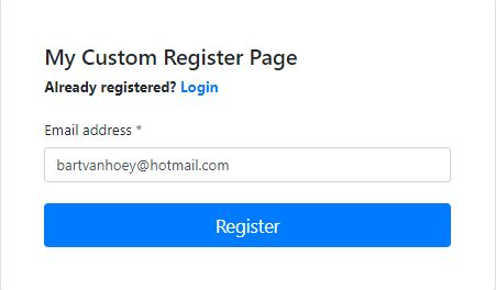 Custom Register Page
