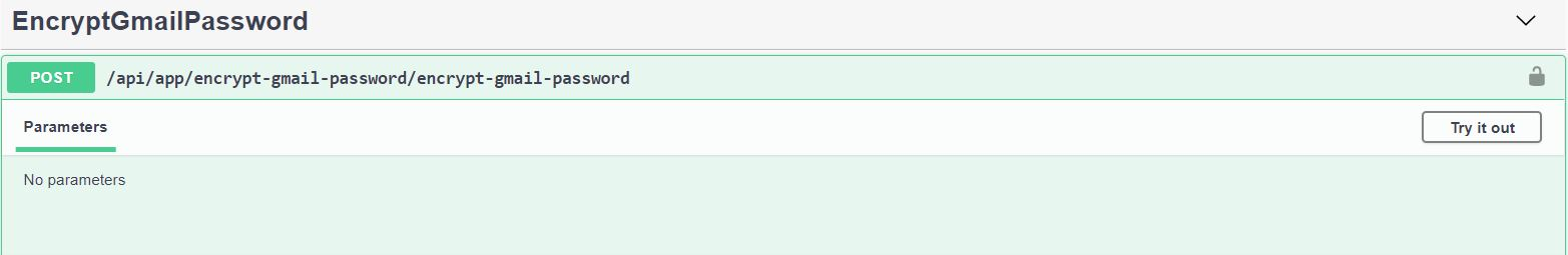Encrypt Gmail Password