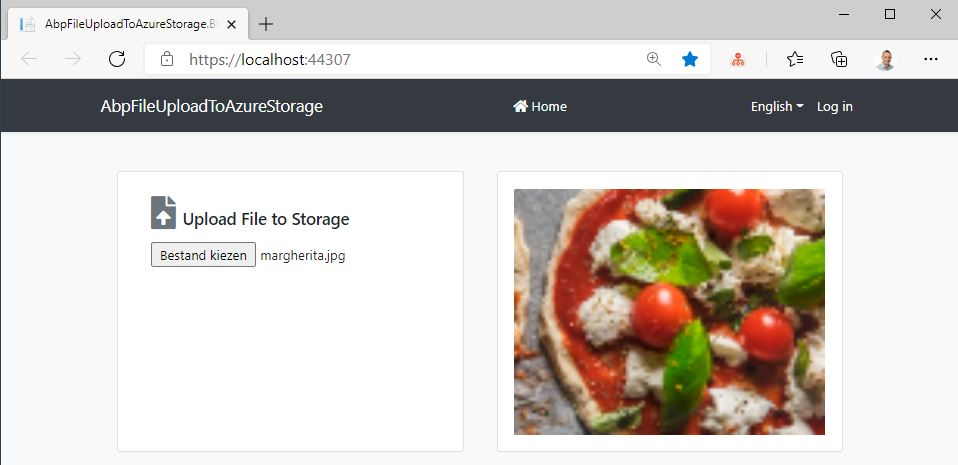 Upload file to Azure Storage